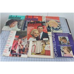 LOT OF 7 MAGAZINES (CHÂTELAINE) *1950S & 60S*