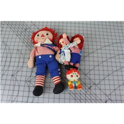 LOT OF TOYS (RAGGEDY ANN & ANDY) *VINTAGE*