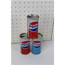 LOT OF 3 PEPSI SODA CANS (VINTAGE)