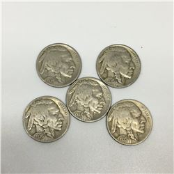 LOT OF 5 BUFFALO NICKELS (USA) *1930-34-35-36-37*