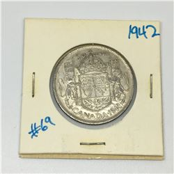 50 CENT PIECE (CANADIAN) *1942 SILVER*