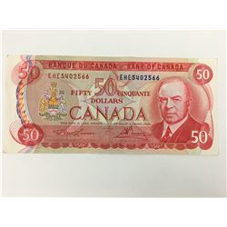 $50.00 BANK NOTE (CANADIAN)  *1975*