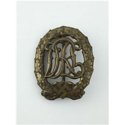 NAZI GERMAN DRL SPORTS BADGE (BRONZE – WERNSTEIN JENA) *WWII*