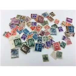 LOT OF GERMAN AND OCCUPIED POSTAGE STAMPS (WWII)