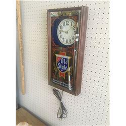 """HEILMAN'S ADVERTISING BEER CLOCK (21"""" X 10"""")"""
