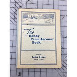 JOHN DEERE HANDY FARM ACCOUNT BOOK (UNUSED) *1932 - 33*