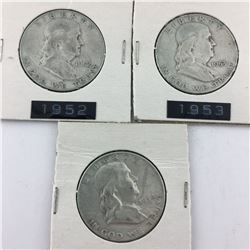 LOT OF  50 CENT PIECES (USA 1952-53-54) * SILVER*
