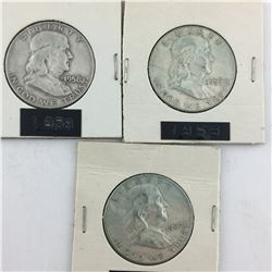 LOT OF USA 50 CENT PIECES (1958 59 60) *SILVER*