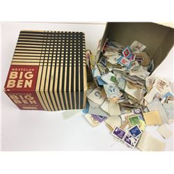 BIG BEN CLOCK BOX (VINTAGE) *FULL OF POSTAGE STAMPS*