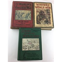 LOT OF 3 WWI BOOKS (COPYRIGHT 1914 & 1919)