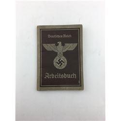 EMPLOYMENT BOOK (WWII NAZI GERMAN)