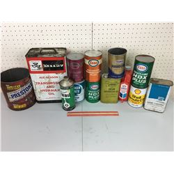 LARGE LOT OF VARIOUS OIL CANS