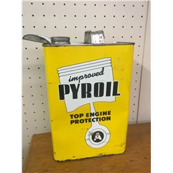 PYROIL A GASOLINE ADDITIVE OIL CAN