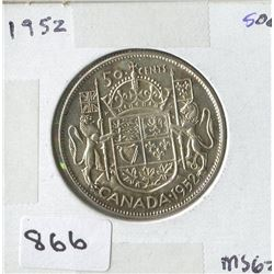 1952 CNDN 50 CENT PC