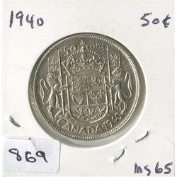 1940 CNDN 50 CENT PC