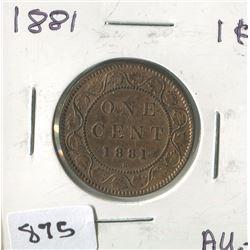 1881 CNDN 1 CENT PC