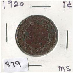 1920 CNDN 1 CENT PC