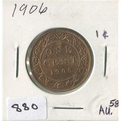 1906 CNDN 1 CENT PC