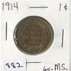 1914 CNDN 1 CENT PC