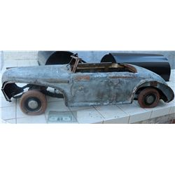MINIATURE ANTIQUE CAR LEAD SHEET LARGE SCALE 2