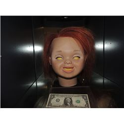CURSE OF CHUCKY SCREEN USED HERO HEAD FROM ANIMATRONIC PUPPET UNSCARRED VERSION