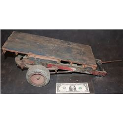 MINIATURE ANTIQUE PASSAGE TO MARSEILLE FLAT BED TRUCK TRAILER