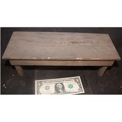 MINIATURE ANTIQUE TABLE WORK BENCH WOOD