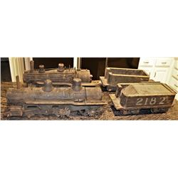 MINIATURE ANTIQUE TRAINS ALL WOOD OLDEST KNOWN TO EXIST!