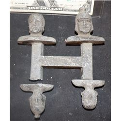 ZZ-CLEARANCE MINIATURE ANTIQUE METAL HEAD MASTERS 1