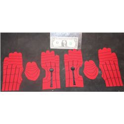 SPIDER-MAN FAR FROM HOME COMPLETE SET OF GLOVES