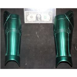 CAPTAIN MARVEL SCREEN USED MATCHED PAIR OF SHIN ARMOR