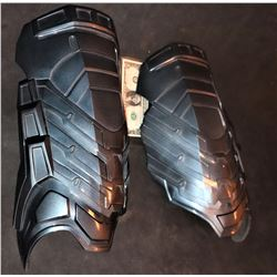 GOTHEM MR FREEZE SCREEN USED MATCHED SET OF LEG ARMOR PIECES
