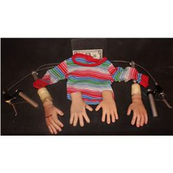 CURSE OF CHUCKY ANIMATRONIC INSERT ARMS WITH HANDS AND SWEATER