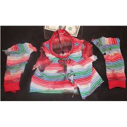 SEED OF CHUCKY SCREEN USED BLOODY SWEATER WITH CHOPPED ARMS
