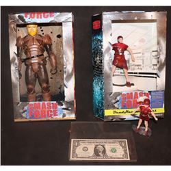 SLEEPY HOLLOW SMASH FORCE FIGURINES IN BOXES CAPTAIN BEAST & DEADHAMMER TWINS