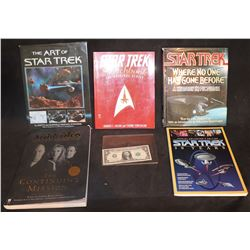 STAR TREK COLLECTION OF 5 OUT OF PRINT BOOKS