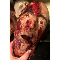 SEVERED BLOODY HEAD WITH OPEN ACRYLIC EYES