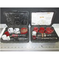 2 Morse Electricians Hole Saw Kits / bi-Metal made in USA.