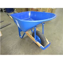 "New 6 cu Ft Wheelbarrow / 440lbs max / Large 16"" flat free Tire"