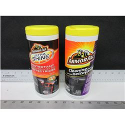 2 Armor ALL / Ultra Shine Protectant Wipes & Cleaning Wipes