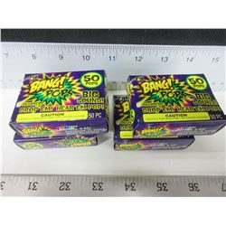 4 Boxes of 50 BANG! POPS!/throw em or drop em BIG BANG! / no shipping