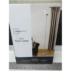 "New Silver Floor Lamp 71"" high / NOTE: NO SHADE"