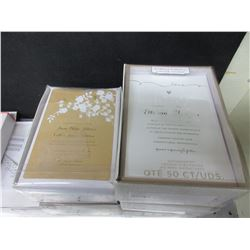 2 New Wedding Collection Invitation Kit 50ct each
