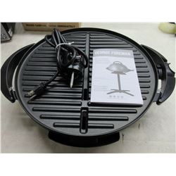 George Forman Electric Grill / no stick with grease tray great for indoor/outdoor