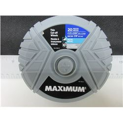 """New 20 piece Maximum Thin Cut Off Wheels / 4-1/2"""" x 3/64 thick for"""