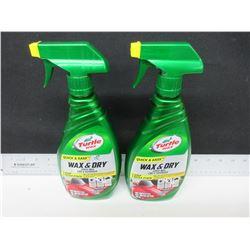 2 New Turtle Wax quick & easy Wax & Dry Spray wax 1-step