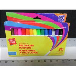 30 New Washable Broadline Markers / non-toxic 30 vivid colors