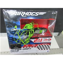 New Air Hogs 2 in 1 RC Hyper Drift Drone / race on land or fly in the sky