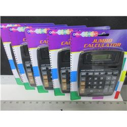 5 New Calculators / large buttons great for home or office