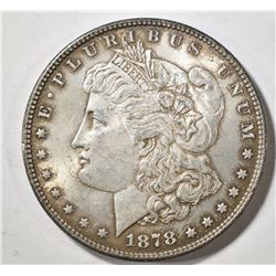 1878 7TF MORGAN DOLLAR, AU/BU